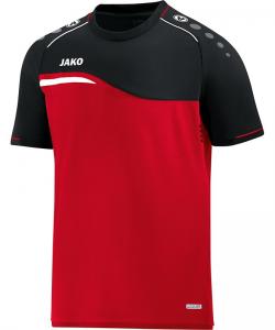 JAKO 6118 Competition 2.0 - T-Shirt Homme Enfants Insertion Contrastante Col Rond Plusieurs Couleurs Tailles Ouvertures de Ventilation