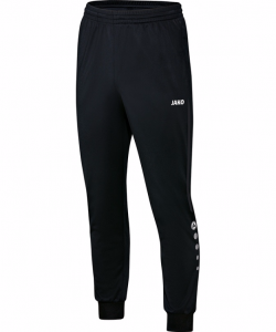 JAKO Champ 9217 - Pantalon Polyester Homme Enfant Poches et Finition des jambes à fermeture éclair Bord Élastique Cordon de Serrage Bicolore