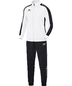 JAKO Striker M9116 - Survêtement Polyester Homme Enfants Bord Élastique avec Cordon de Serrage Plusieurs Couleurs Tailles Poches Latérales à Fermeture Éclair