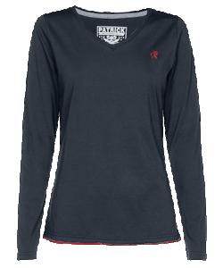 PATRICK PHOENIXW1L - T-Shirt Longues Manches En Bleu Marin Pour Femme Très Haute Qualité Idéal Pour Loisirs Plusieurs Tailles