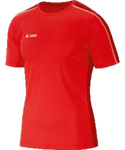 JAKO Sprint 6110M - T-Shirt Manches Courtes Homme Enfants Coutures Flatlock Plusieurs Couleurs Tailles Bande Running au Cou Insertion Jacquard
