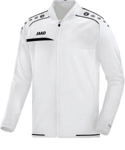 JAKO Prestige 6858 - Veste Club Jacket Homme Plusieurs Couleurs Tailles Coupe Sportive Col Mandarin à la Mode Poches Latérales à Fermeture Éclair