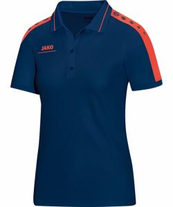 JAKO Striker 6316W - Polo T-Shirt Femme Dames Col à Fermeture Boutonnée Plusieurs Couleurs Tailles Confortable Pratique