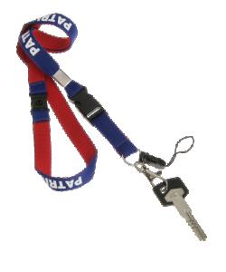 PATRICK NECKLAC801 - Tour de Cou avec Crochet pour Fixer Sifflet ou Trousseau de Clés et Clip de Fixation Taille Unique
