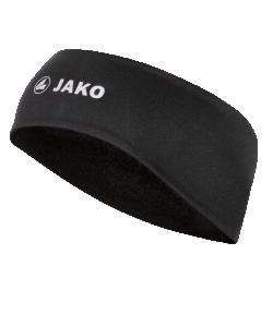 JAKO 1299 - Bandeau  Fonctionnel Noir Hommes Femmes Enfants Taille Unique Impressions Réfléchissantes Intérieur Brossé