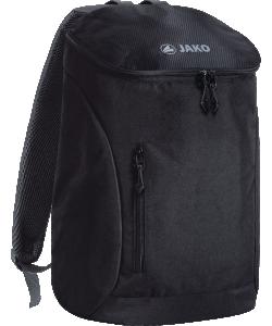 JAKO 1860 - Sac à Dos Work Noir Taille Unique Compartiment Rembourré pour Ordinateur Portable et Documents Petite Poche Intérieure Zippée en Mesh