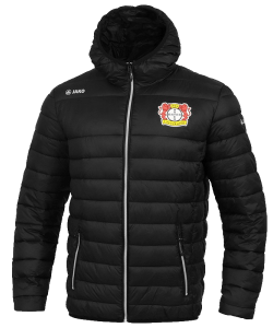 JAKO Bayer 04 Leverkusen BA7303 - Quilted Jacket Black For Men Kids Heat-Insulating Padding Hood Zipped Side Pocket