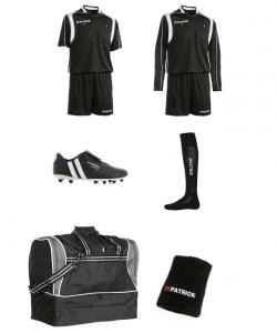 PATRICK REF-SILVER - Pack Silver Complet Pour Arbitre de Football Homme Femme Plusieurs Couleurs Tailles Pointures