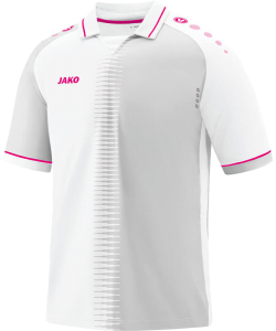 JAKO 4218 Competition 2.0 - Jersey SS Men Polo Collar with V Insertion Several Colors Sizes Ventilation Openings Contrasting Accents