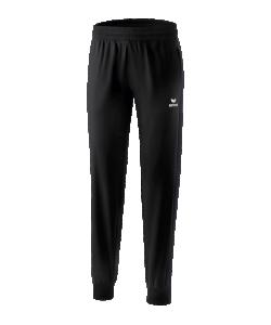 ERIMA 1101802 Premium One 2.0 - Pantalon Présentation Noir Femme Dames Plusieurs Tailles Textiles Fonctionnels Légers Élastiques Sans Doublure