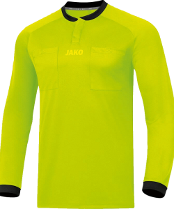 JAKO Referee 4371 - Jersey Shirt Long Sleeves Adult Round Collar Ripp with Snap Closure Several Sizes Colors Chest Pockets with Velcro Closure