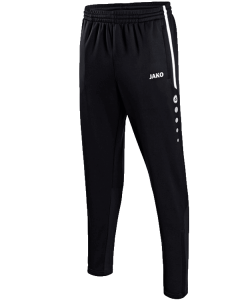 JAKO Active 8495 - Pantalon Entraînement Homme Enfant Poches Latérales et Finition des jambes à fermeture éclair Bord Élastique Cordon de Serrage