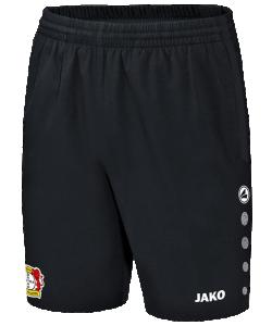 JAKO Bayer 04 Leverkusen BA6217 - Short Champ Noir Homme Enfants Poches Latérales Différentes Tailles Ceinture Intérieure Contrastante Cordon de Serrage Bicolore