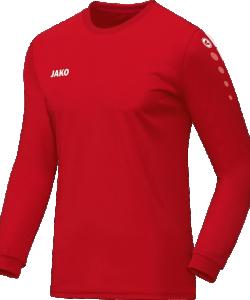 JAKO Team 4333 - Maillot Manches Longues Homme Femme Enfants Équipe Col Rond Ripp Look Uni Moderne Plusieurs Couleurs Tailles