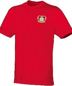JAKO Bayer 04 Leverkusen BA6133 - T-Shirt Coton Team Homme Enfants Col Rond Plusieurs Couleurs Tailles Confortable Pratique Idéal Pour Loisir