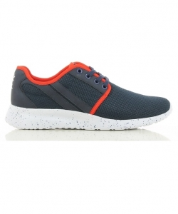 PATRICK PA002363 - Nouveauté 2018 Chaussures de Loisir Homme Look Tendance Sportif Décontracté Tige Cuir Pointure 46 Couleur Bleu Foncé Rouge