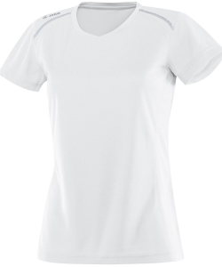 JAKO Run 6115W - T-Shirt Manches Courtes Femme Dames Coutures Flatlock Plusieurs Couleurs Tailles Matériau Polyester-Mesh Respirant