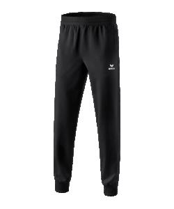 ERIMA 1101801 Premium One 2.0 - Pantalon Présentation Noir Homme Enfants Plusieurs Tailles Textiles Fonctionnels Légers Élastiques Sans Doublure