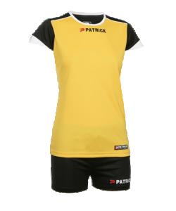 PATRICK RIOW306 - Tenue de Volley Femme Enfant Maillot et Short pour Équipe Sport Plusieurs Tailles Couleur Jaune-Noir