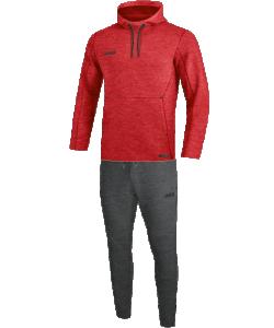 JAKO M9629M Premium Basics - Survêtement Jogging à Capuchon Sweat Hommes Coupe Sportive Plusieurs Couleurs Tailles Poches Latérales Zippées Effet Mélange