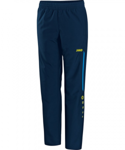 JAKO Champ 6517 - Pantalon de Loisir Femme Dames Poches et Finition des jambes à fermeture éclair Bord Élastique Cordon de Serrage Bicolore