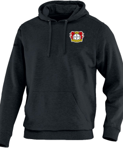 JAKO Bayer 04 Leverkusen BA6733M - Hooded Sweat Team Men Kids Sewn Pocket Several Colors Sizes Ripp Trim Edge at Sleeves and Waist