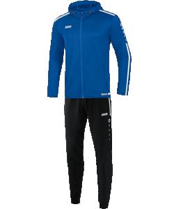 JAKO M9419 Striker 2.0 - Survêtement Polyester à Capuchon Hommes Enfants Plusieurs Couleurs Tailles Poches Latérales Zippées Rayures Contrastantes