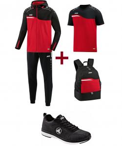 JAKO EO10018 Competition 2.0 - Pack Entraînement Optimal - Survêtement Polyester à Capuchon - T-Shirt - Sac à Dos - Chaussures Loisirs - Plusieurs Couleurs Tailles