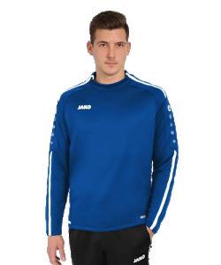 JAKO 8819 Striker 2.0 - Sweater Hommes Enfants Plusieurs Couleurs Tailles Col Rond Tape Contrastant au Cou Rayures Contrastantes