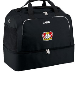 JAKO Bayer 04 Leverkusen BA2050 - Sports Bag Classico Black Pouch with Zipper in the Main Compartment Several Sizes Shoes Storage Adjustable Shoulder Strap