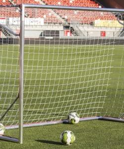 AluSport TP360N - But de Football Récréation Aluminium Transportable Démontable 3,00M x 2,00M Filets et Crochets Inclus Entièrement Soudés