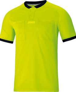 JAKO Referee 4271 - Jersey Shirt Short Sleeves Adult Round Collar Ripp with Snap Closure Several Sizes Colors Chest Pockets with Velcro Closure