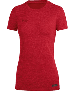 JAKO 6129W Premium Basics - T-Shirt Femmes Col Rond Coupe Sportive Dames Plusieurs Couleurs Tailles Effet Mélange Label Qualité
