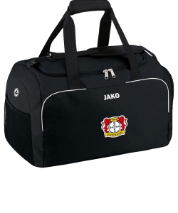 JAKO Bayer 04 Leverkusen BA1950 - Sports Bag Classico Black Side Pockets Pouch with Zipper in the Main Compartment Several Sizes Adjustable Shoulder Strap