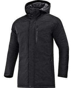 JAKO 7206 - Winter Parka Men Wind Rain Resistant Several Colors Sizes Zipped Side Pockets Adjustable Hood Straight Fit