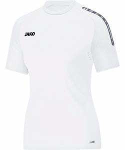 JAKO Champ 6117W - T-Shirt Pour Femme Dames Ouvertures de Ventilation Plusieurs Couleurs Tailles Manches avec Dessin Relief Col Bicolore Étiquette Performance