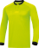 JAKO Referee 4371 - Maillot Arbitre Longues Manches Adultes Col Rond Ripp Fermeture à Bouton Pression Plusieurs Tailles Couleurs Poches Poitrine Fermeture Velcro