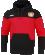 JAKO Bayer 04 Leverkusen BA6707 - Sweater à Capuchon Premium Noir Rouge Homme Enfants Poche Cousue Plusieurs Tailles Bord de Finition en Ripp aux Manches