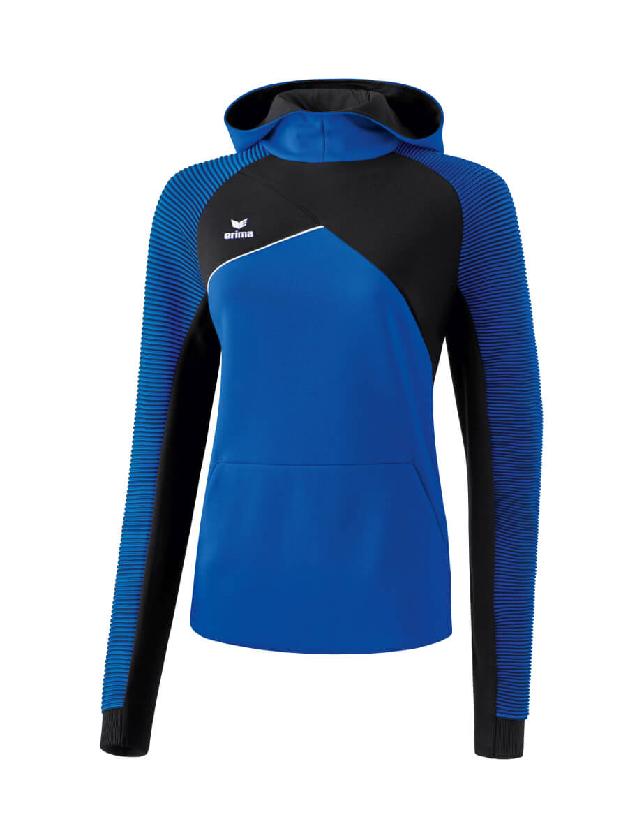 ERIMA 1071817 Sweat à Capuche Premium One 2.0 Bleu Royal/Noir/Blanc