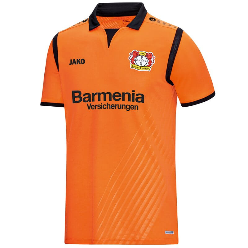 JAKO BA4217T-19-1 Maillot Gardien de But Manches Courtes Bayer 04 Leverkusen Orange