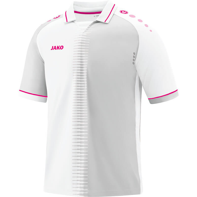 JAKO 4218-00 Maillot CM Competition 2.0 Blanc/Framboise Face