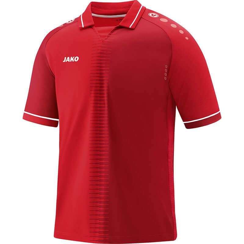 JAKO 4218-01 Maillot CM Competition 2.0 Rouge/Blanc Face