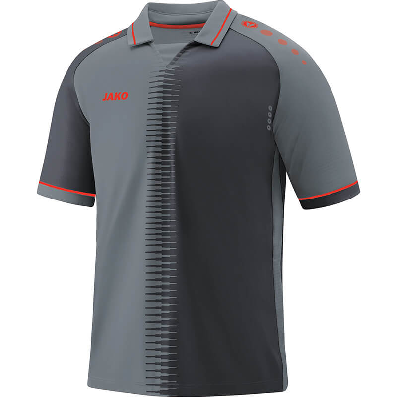 JAKO 4218-40 Maillot CM Competition 2.0 Gris Pierre/Flamme Face