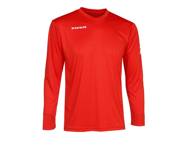 PATRICK PAT105-RED Maillot de Football Longues Manches Rouge